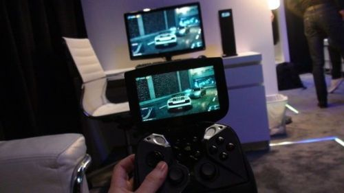 mobile gaming with handheld device