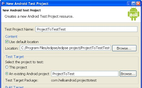 new Android Test Project
