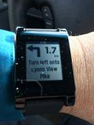 smart watch on a hand